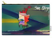 San Diego Map Watercolor Carry-all Pouch