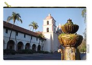 Santa Barbara Mission Fountain Carry-all Pouch