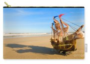 Ship Model On Summer Sunny Beach Carry-all Pouch
