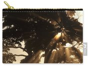 Silhouetted Tree With Sun Rays Carry-all Pouch