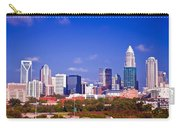Skyline Of Uptown Charlotte North Carolina At Night Carry-all Pouch by Alex Grichenko