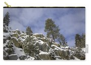 Snow Covered Cliffs And Trees II Carry-all Pouch