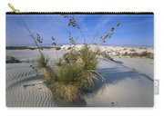 Soaptree Yucca In Gypsum Dunes White Carry-all Pouch