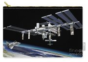 Space Station In Orbit Around Earth Carry-all Pouch by Leonello Calvetti