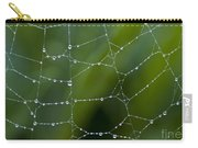 Spider Web With Dew Drops  Carry-all Pouch