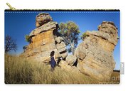 Split Rocks With Woman Carry-all Pouch