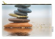 Stack Of Beach Stones On Sand Carry-all Pouch