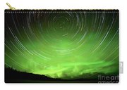 Star Trails And Northern Lights In Night Sky Carry-all Pouch