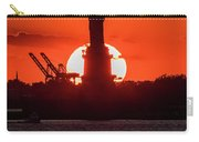 Statue Of Liberty Sunset. Nyc Harbor Carry-all Pouch
