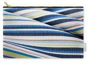 Striped Material Carry-all Pouch