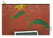 Sunflower And Snow Carry-all Pouch
