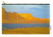 Sunset Glow Over Wahweap Bay In Lake Powell In Glen Canyon National Recreation Area-arizona Carry-all Pouch