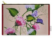 Sweet Peas And Butterflies Carry-all Pouch