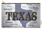 Texas State Pride Map Silhouette  Carry-all Pouch