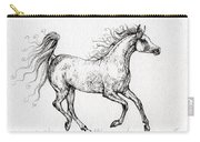 The Arabian Mare Running  Carry-all Pouch