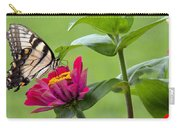 Tiger Swallowtail Butterfly On Zinnia Carry-all Pouch