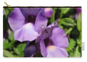 Torenia Named Purple Moon Carry-all Pouch