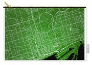 Toronto Street Map - Toronto Canada Road Map Art On Colored Back Carry-all Pouch