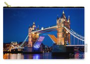 Tower Bridge In London Uk At Night Carry-all Pouch