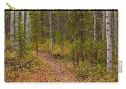Trail In Golden Aspen Forest Carry-all Pouch
