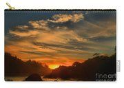 Trinidad Beach Sunset Carry-all Pouch by Adam Jewell