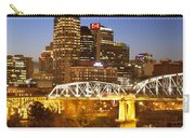 Twilight Over Nashville Tennessee Carry-all Pouch by Brian Jannsen