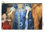 Van Dyck's Queen Henrietta Maria With Sir Jeffrey Hudson Carry-all Pouch