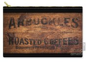 Vintage Arbuckles Roasted Coffee Sign Carry-all Pouch