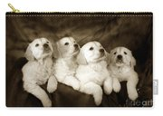 Vintage Festive Puppies Carry-all Pouch