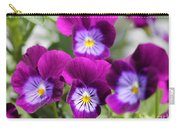Viola Named Sorbet Plum Velvet Jump-up Carry-all Pouch by J McCombie
