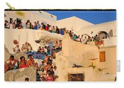 Waiting For The Sunset In Oia Town Carry-all Pouch