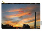 Evening Washington Monument Carry-all Pouch
