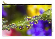 Water Drops On A Flower Stem Carry-all Pouch