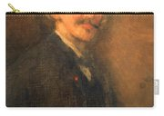 Whistler's Brown And Gold Self Portrait Carry-all Pouch