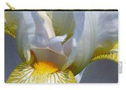White And Yellow Iris 2 Carry-all Pouch