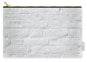 White Brick Wall Carry-all Pouch