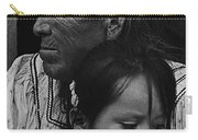 White Mountain Apache Elder And Granddaughter Rodeo White River Arizona 1970 Carry-all Pouch