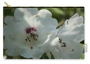 White Rhododendron Blossom Carry-all Pouch