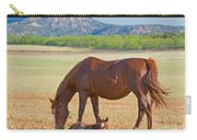 Wild Horses Mother And Foal Carry-all Pouch
