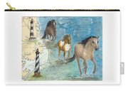 Wild Mustang Horses Outer Banks Lighthouses Nautical Chart Map Art Carry-all Pouch