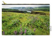 Wildflowers In A Field, Columbia River Carry-all Pouch