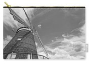 Windmill In The Sky In Black And White Carry-all Pouch