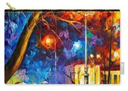 Winter Rain Carry-all Pouch by Leonid Afremov