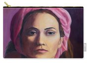 Woman In A Pink Turban Carry-all Pouch