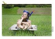 Woman Lying In A Bathtub Carry-all Pouch