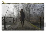 Woman Walking On A Bridge Carry-all Pouch