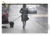 Woman Walking On The Street Carry-all Pouch