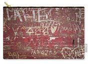 Wood Graffiti Carry-all Pouch
