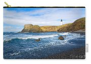Yaquina Lighthouse On Top Of Rocky Beach Carry-all Pouch