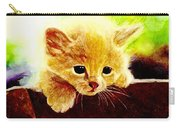 Yellow Kitten Carry-all Pouch